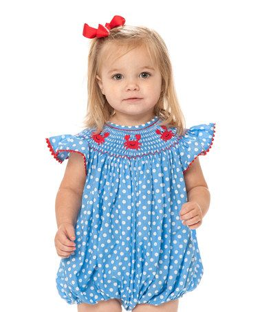 10115cf9a Love this Blue Crab Smocked Bubble Romper - Infant & Toddler on #zulily! # zulilyfinds
