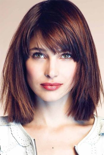how to style a bob hair cut great layered bob with bangs hair 3319