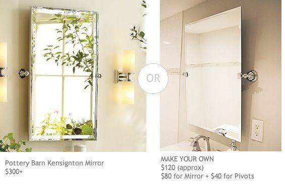 diy pivot mirror pivots from home depot custom mirror hall rh pinterest com