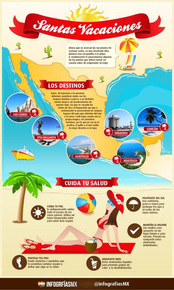Vas A Salir De Vacaciones Infografia Las Mejores Playas Para Visitar Semanasanta Infographic Lugares Magicos De Mexico Turismo En Mexico Viajes En Mexico