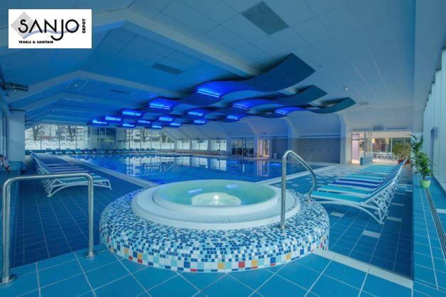 Zwembad tegels van cesi kleurrijke tegels