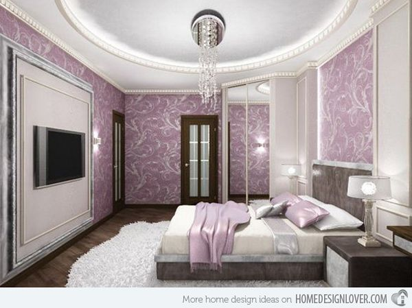 ravishing wallpaper ideas for home office. 15 Ravishing Purple Bedroom Designs  so feminine bedroom design