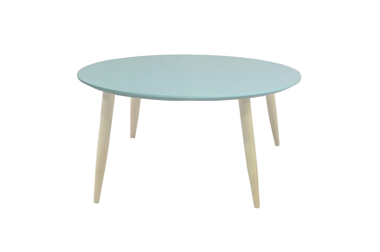 Table Basse Scandinave Ronde Manon Vert Poudre Inspiration