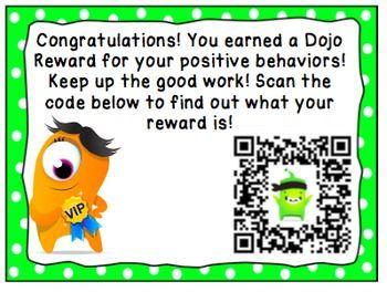 Class Dojo Reward Tickets Qr Code Class Dojo Dojo Rewards Class Dojo Rewards