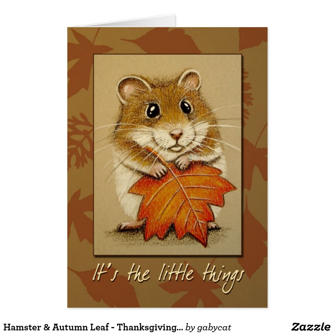 Hamster autumn leaf thanksgiving card thanksgiving greeting hamster autumn leaf thanksgiving card kristyandbryce Images