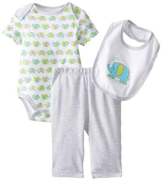 Baby Boy Infant Gift Set 6-9 Months Elephant Peanut Bodysuit Bib Socks NWT