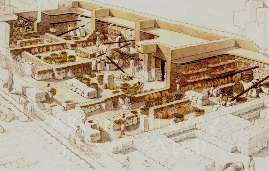 Ekron, Philistine City in Israel. Olive oil presses, 7th century ...