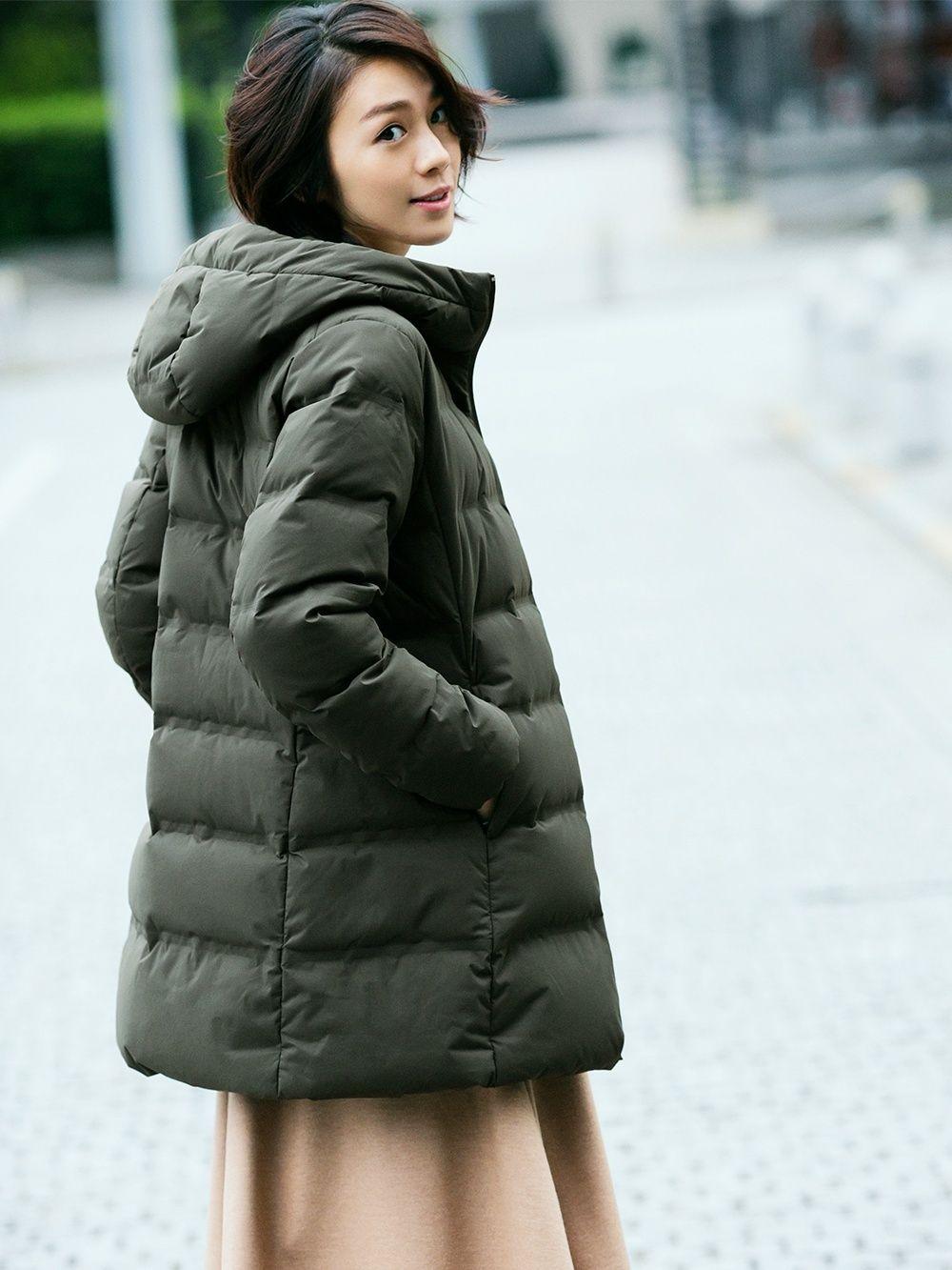 dd597da3a9c2 Women seamless down hooded short coat in 2019   what to wear   Coat ...