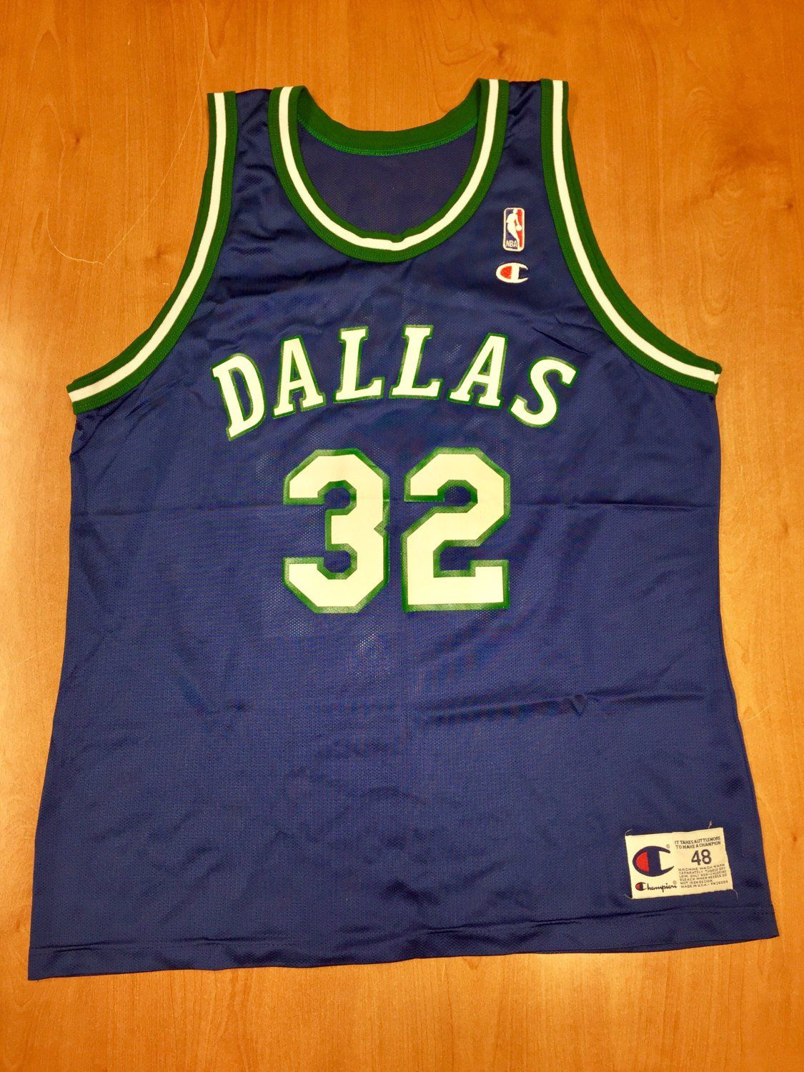 Vintage 1993 - 1997 Jamal Mashburn Dallas Mavericks Champion Jersey Size 48  hat shirt mavs rolando blackman cedric ceballos kentucky uk nba by ... a7237b1f6