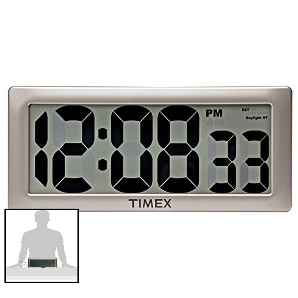 75071ta2 13 5 Large Digital Clock W 4 Digits Black Numbers Home Large Digital Clock Digital Clocks Clock