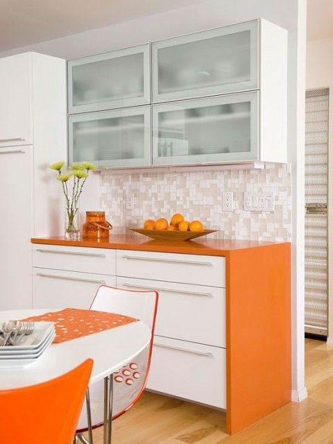 Dale vida a tu cocina con el color naranja | Cocina naranja, Naranja ...
