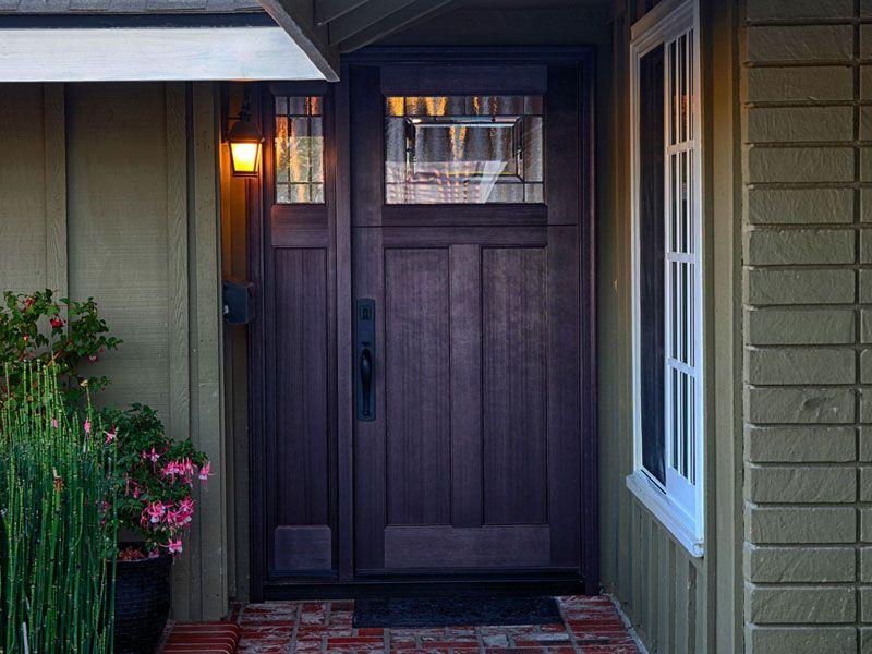 Plastpro Fiberglass Fir Grain Craftsman Door And Sidelight Model