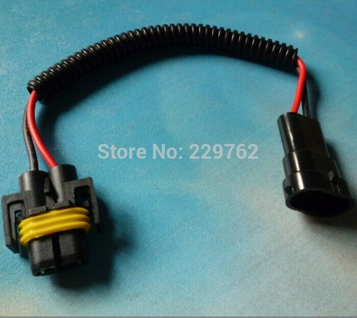 50PCS H8 H9 H11 Wiring Harness Socket Car Wire Connector Cable Plug ...