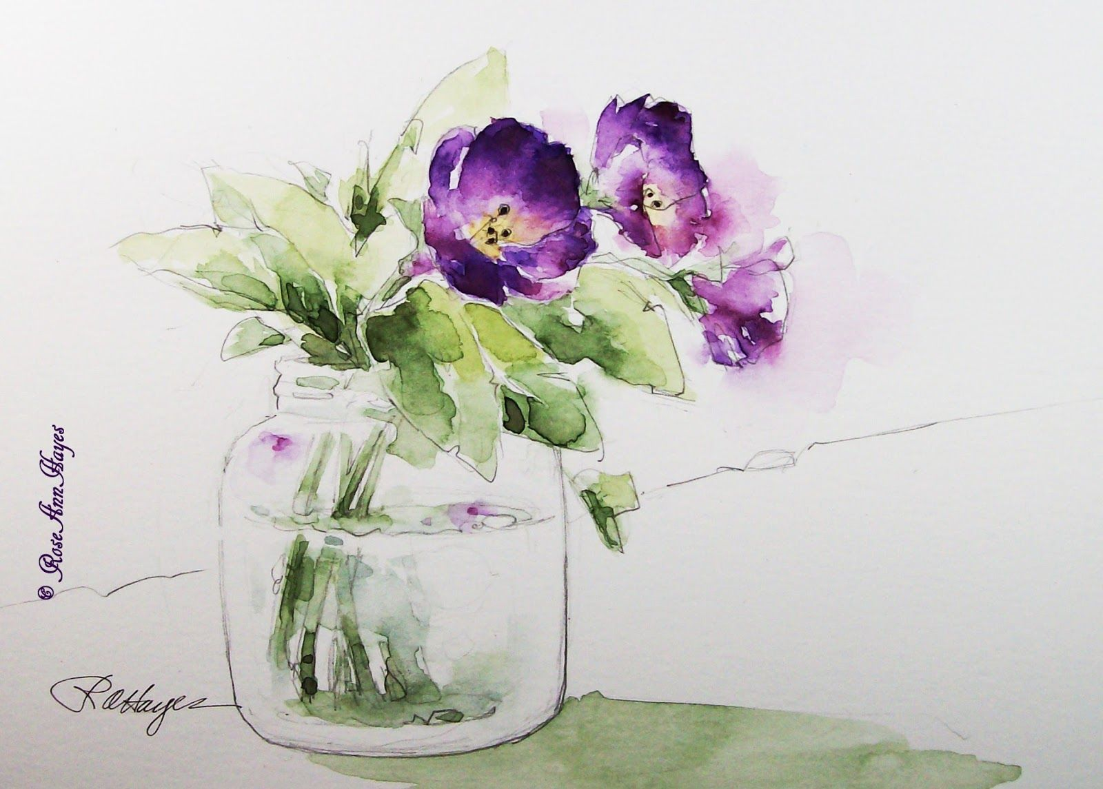 simple watercolor flower paintings bing images flowers