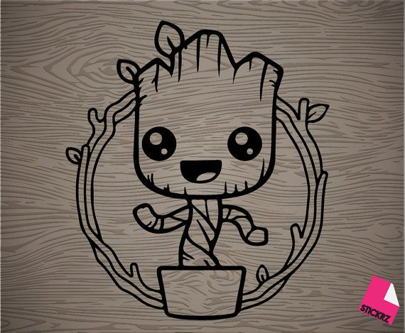 dancing groot vinyl decal sticker free shipping by stickrz. Black Bedroom Furniture Sets. Home Design Ideas
