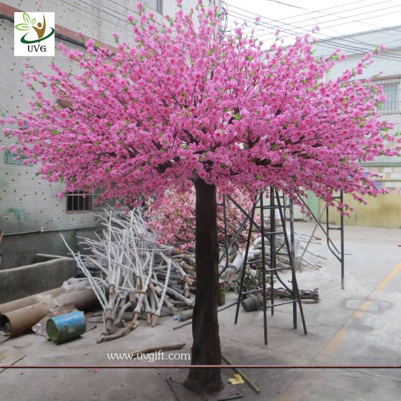 Uvg 10 Foot Pink Peach Blossom Artificial Trees Indoor For Cheap Wedding Decorations Artificial Indoor Trees Artificial Cherry Blossom Tree Peach Blossom Tree
