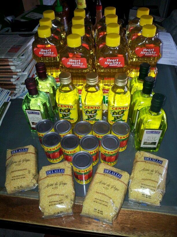 Corn oil 1.44,  olive oil 3.89.