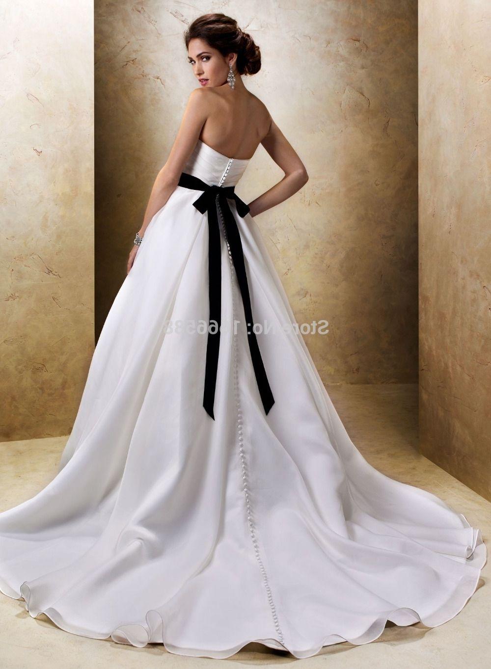 Black Sash On Wedding Dress Meaning Satin