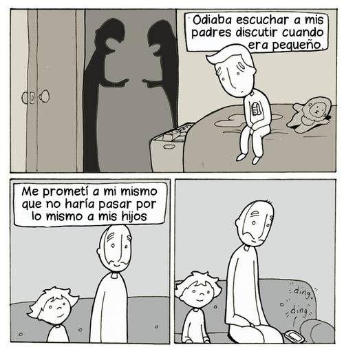 odiaba escuchar discutir a mis padres cuando era pequeño . Más en www.lasfotosmasgraciosas.com