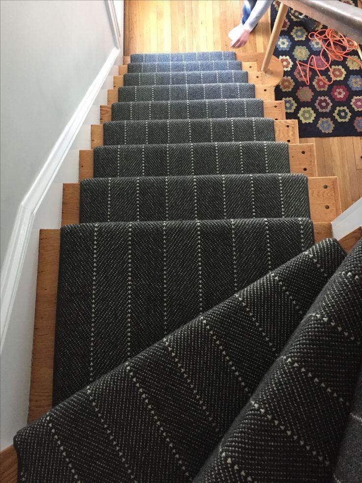 Best Prestige Mills Ravine Charcoal Carpet Staircase 640 x 480