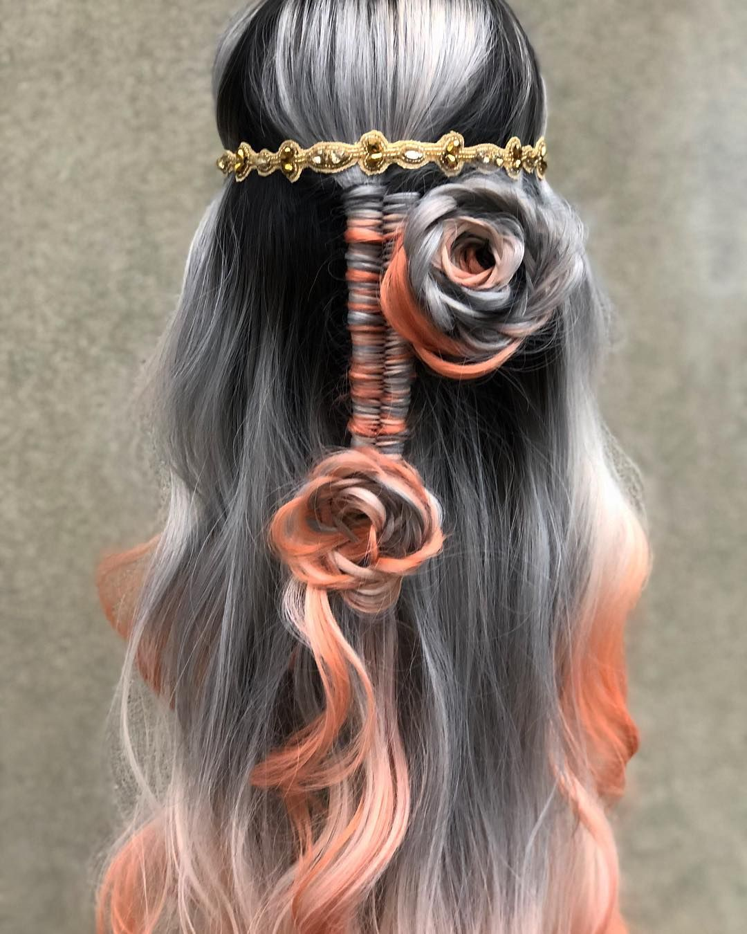 XXL Waves Hair Style  Hair styles, Rose braid, Rose hair