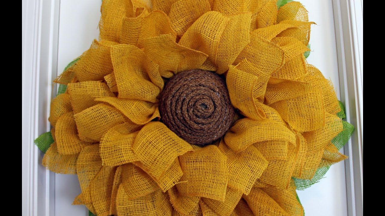 Photo of How to make a burlap sunflower wreath