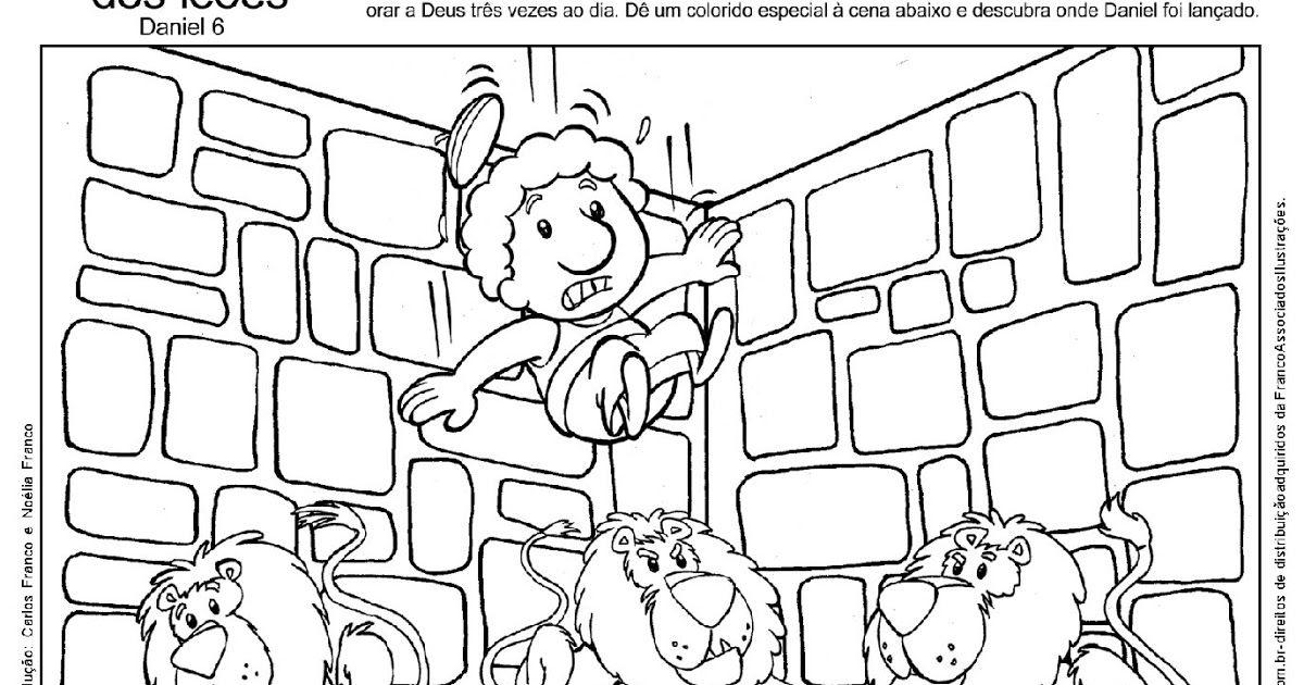 Atividade De Interpretacao Da Historia Daniel Na Cova Dos Leoes