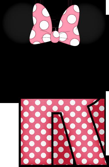 Letra Decorada Con Minnie Mouse
