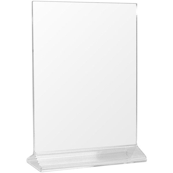 8 Pack) 5 x 7 Acrylic Sign Holder, Table Display, Menu Holder ...