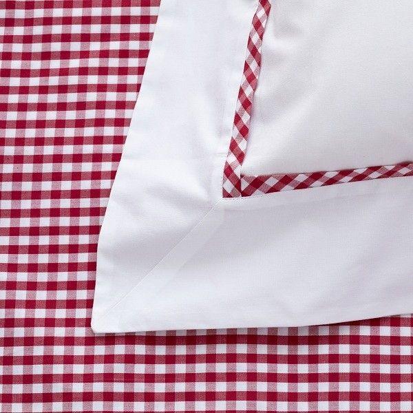 Raspberry Red Gingham Duvet Cover | Red Gingham Quilt Cover | Red ... : red gingham quilt - Adamdwight.com
