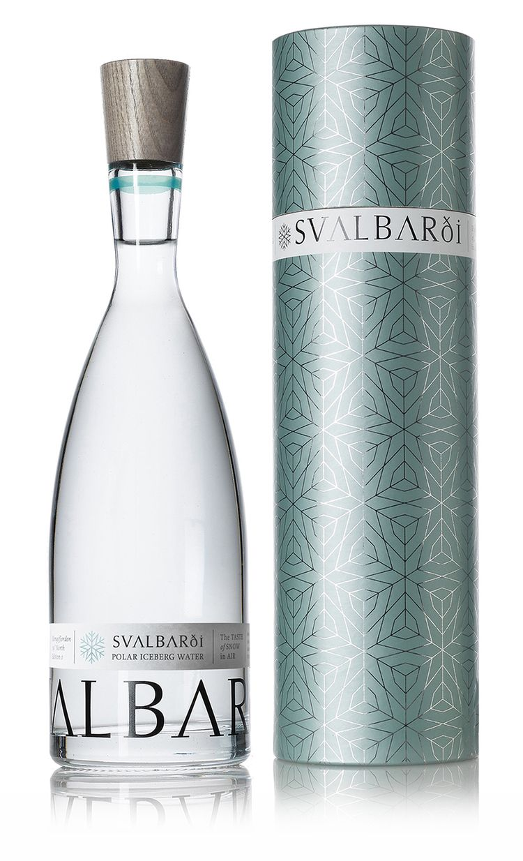 Svalbardi Polar Iceberg Water — I wish the design transfered directly onto the water bottle. The color is crisp and clean, like water tapped from the great, frosty outdoors.