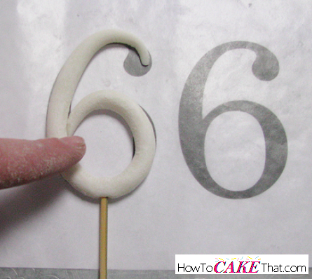 Make Gum Paste Numbers Cake Topper