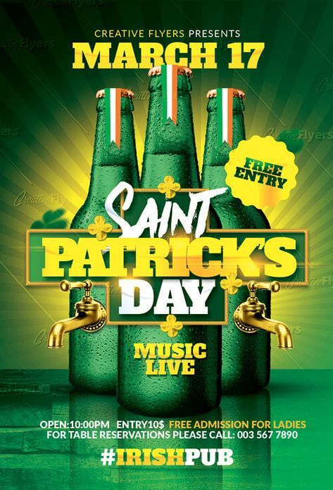 Check Out St Patricks Flyer Psd Templates Creative Flyers