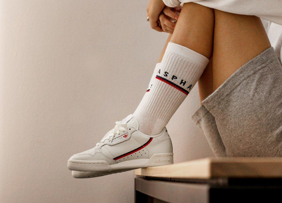 Adidas Continental 80 White Tint Off White Scarlet Gold Adidas Adidas Sneakers