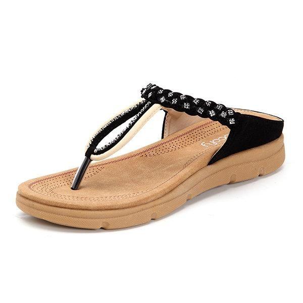 9c398367fb911 Shoe Type  Slippers Toe Type  Clip Toe Closure Type  Slip On Heel Type  Flat  Heel Height  3cm Gender  Female Occasion  Casual