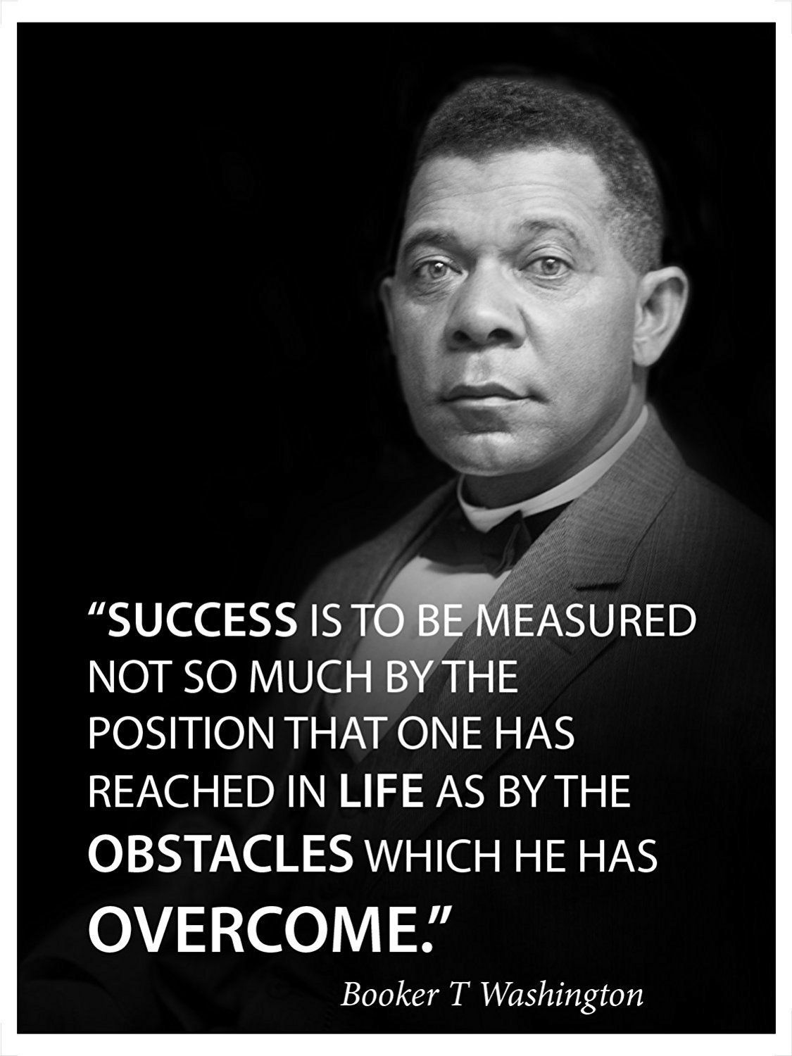 Success is to be measured famous quote poster portrait by