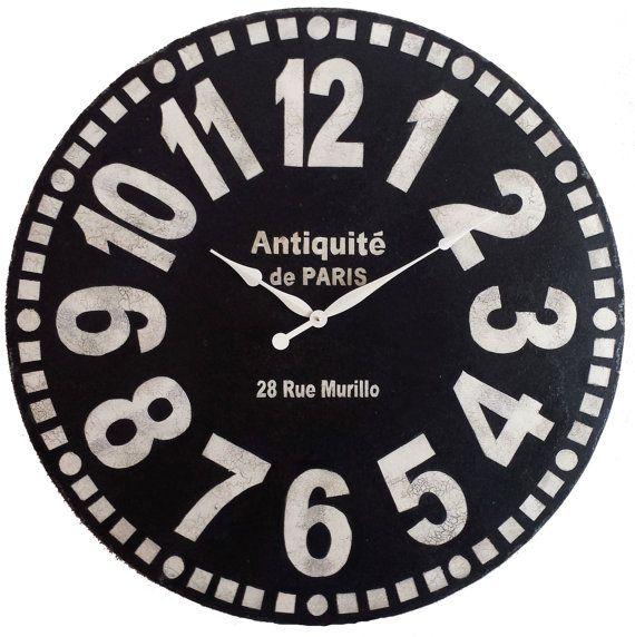 Large Wall Clock 36 Inch Murillo Paris Black Tuscan By Klocktime Large Wall Clock Clock Wall Clock