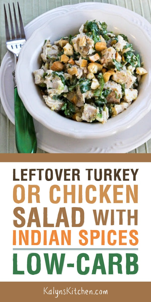 Leftover Turkey Or Chicken Salad With Indian Spices Lemon And Cilantro Is A Low Carb Salad That S A Delicious And U Diet Salad Recipes Recipes Low Carb Salad