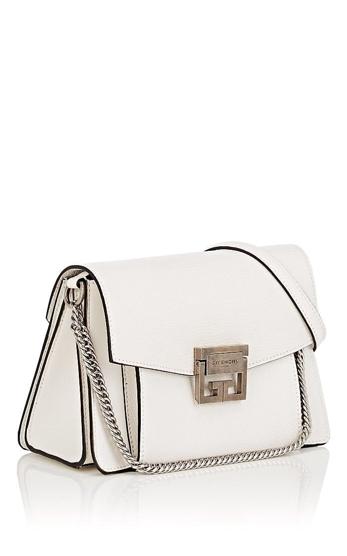 abbe04740b6a Givenchy Gv3 Small Leather Shoulder Bag - White 1 Sz
