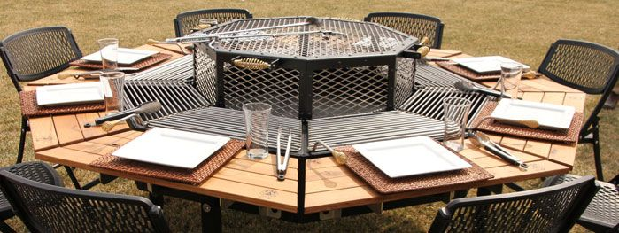 jag grill grill firepit and table all in one how fun for family gatherings for the. Black Bedroom Furniture Sets. Home Design Ideas
