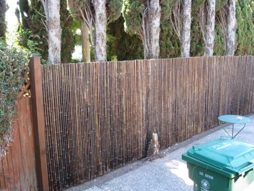 Backyard X-Scapes 1 in. D x 6 ft. H x 8 ft. W Black Rolled Bamboo Fence  HDD-BF13BLACK at The Home Depot - Mobile - Backyard X-Scapes 1 In. D X 6 Ft. H X 8 Ft. W Black Rolled Bamboo