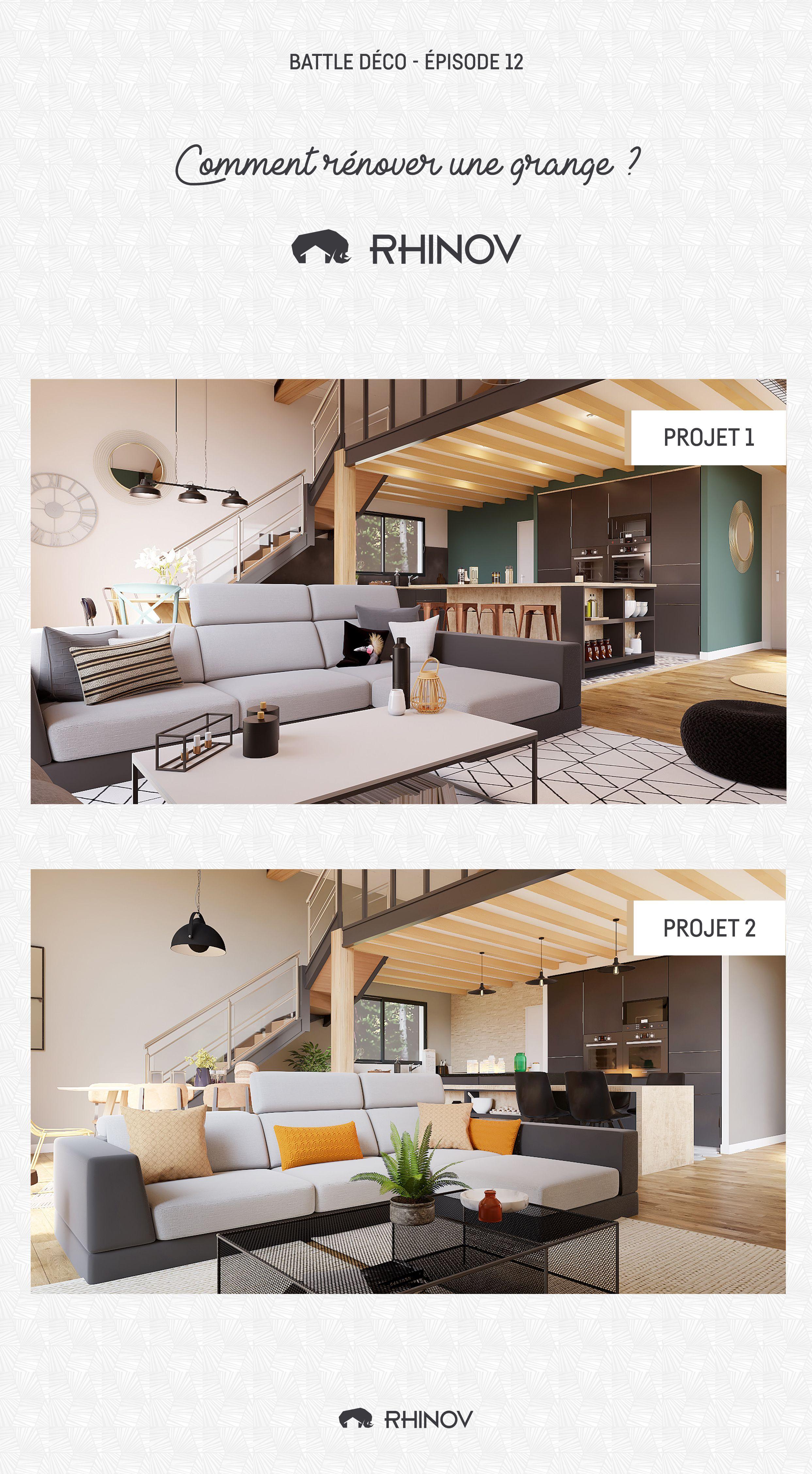 Battle Deco 12 Renovation Grande Style Industriel Moderne Rhinov Decor Salon Maison Deco Decoration Maison