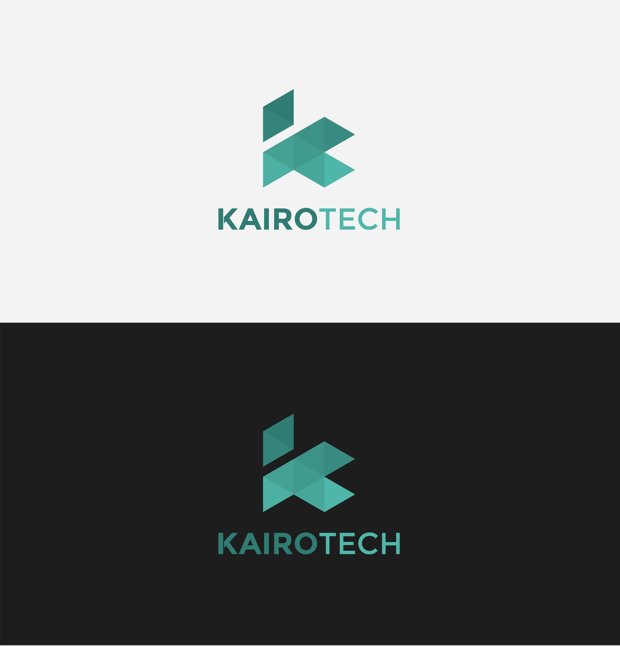 Kairo Tech logo. Simple, modern lettering logo