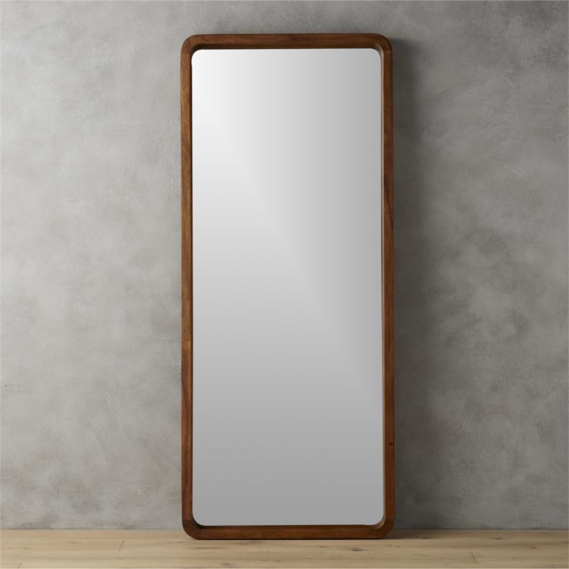 Shop Acacia Wood 33 Quot X73 Quot Floor Mirror Solid Sustainable