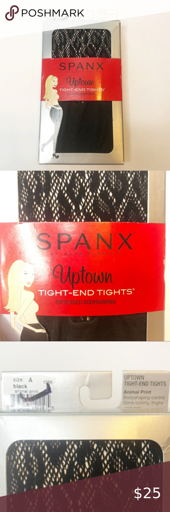 SPANX Uptown Tight-End-Tights Animal Print 1099 Black