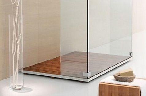 Plato de ducha de tarima lavabos de madera shower - Platos de ducha diseno ...