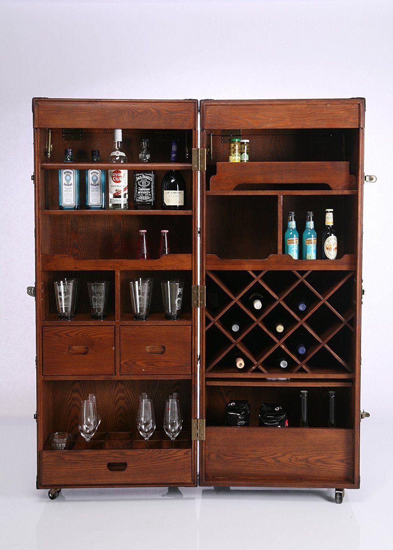 Kare 73933 Schrankkoffer Bar Colonial: Amazon.de: Küche & Haushalt ...