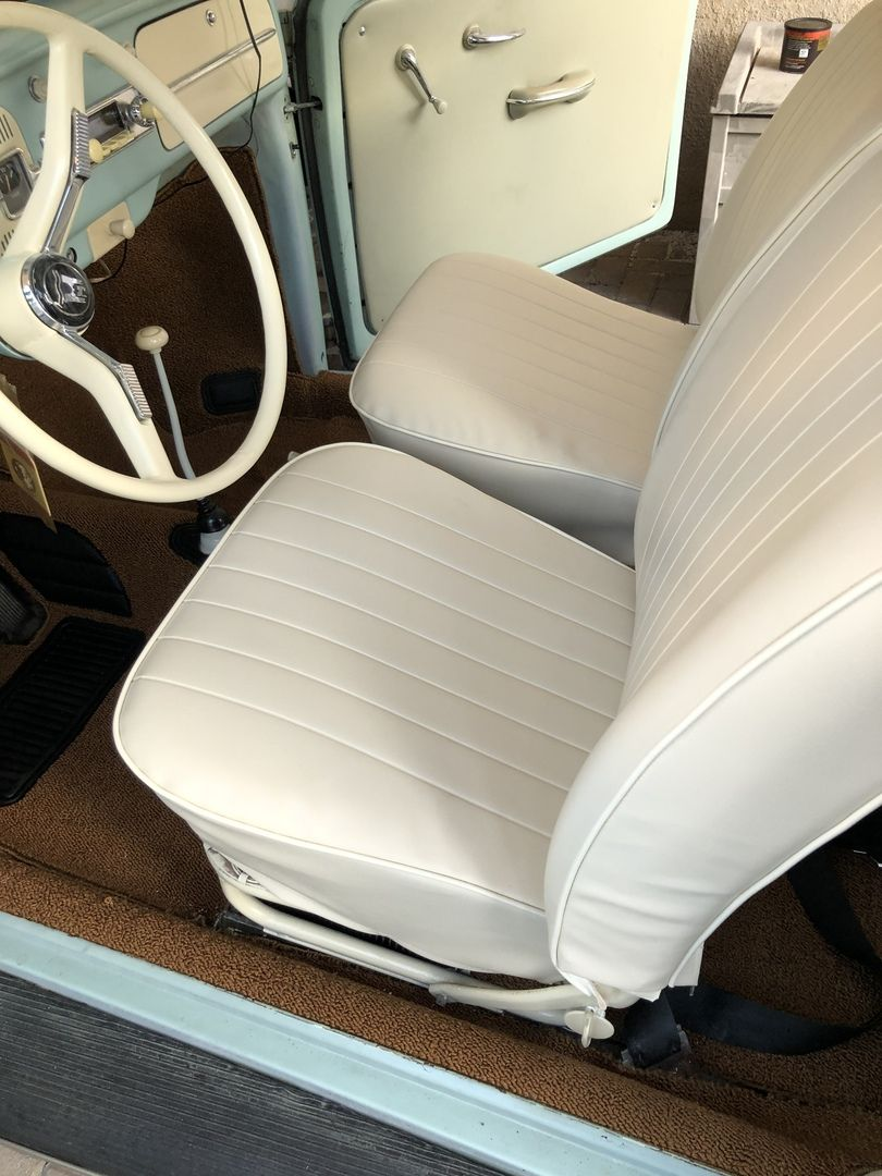 1965 1966 Vw Beetle Sedan Smooth Vinyl Interior Kit Vinyl Doors Vintage Vw Sedan