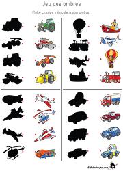 Jeu des ombres à imprimer pour enfants de 3 ans et plus | Activite enfant 3 ans, Jeux educatif ...