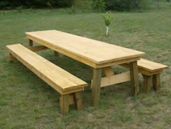 Admirable Classic Picnic Table With Separate Benches How To Plan In Forskolin Free Trial Chair Design Images Forskolin Free Trialorg